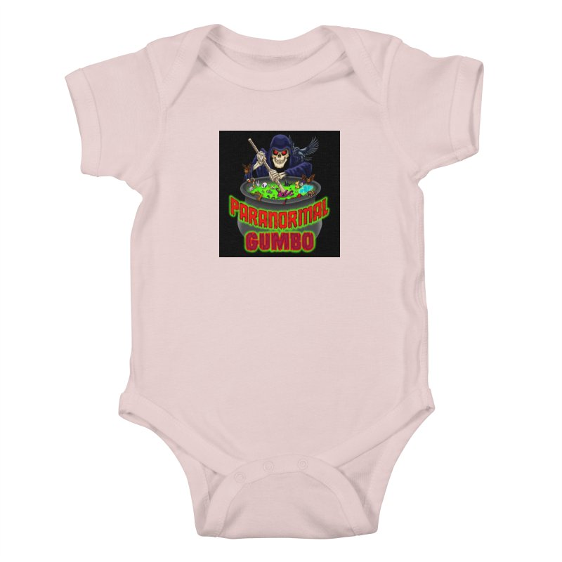 Paranormal Gumbo Grim Reaper Logo Products Kids Baby Bodysuit by Paranormal Gumbo