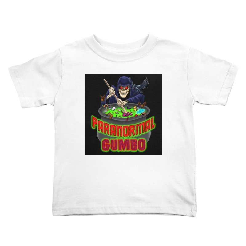 Paranormal Gumbo Grim Reaper Logo Products Kids Toddler T-Shirt by Paranormal Gumbo