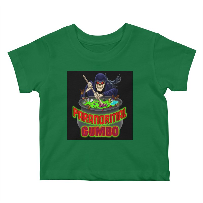 Paranormal Gumbo Grim Reaper Logo Products Kids Baby T-Shirt by Paranormal Gumbo