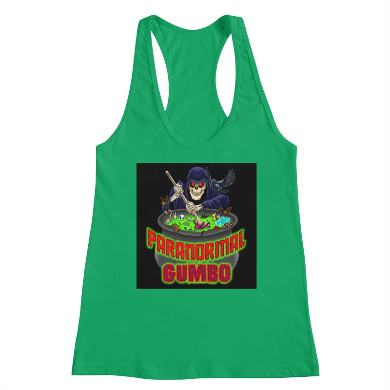 Paranormal Gumbo Grim Reaper Logo Products Women's Tank by Paranormal Gumbo