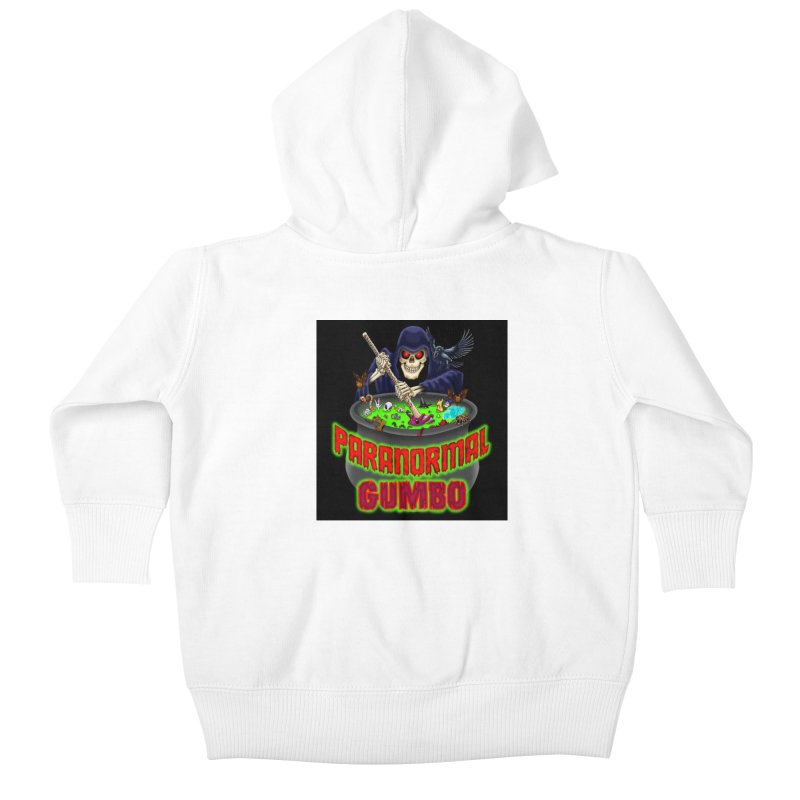 Paranormal Gumbo Grim Reaper Logo Products Kids Baby Zip-Up Hoody by Paranormal Gumbo