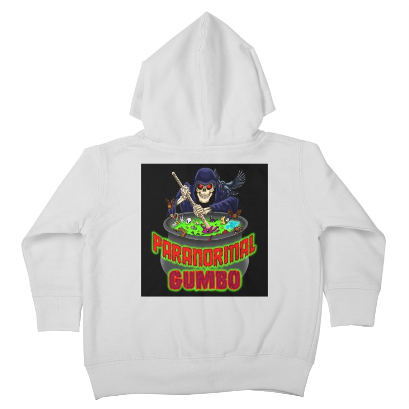 Paranormal Gumbo Grim Reaper Logo Products Kids Toddler Zip-Up Hoody by Paranormal Gumbo