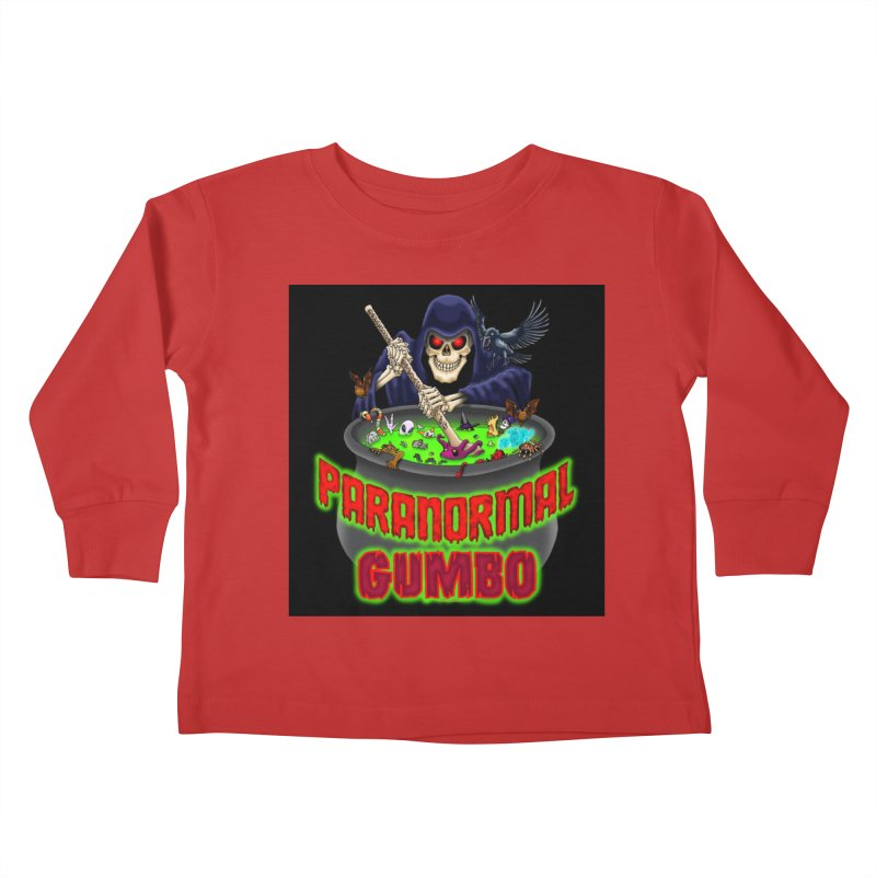 Paranormal Gumbo Grim Reaper Logo Products Kids Toddler Longsleeve T-Shirt by Paranormal Gumbo