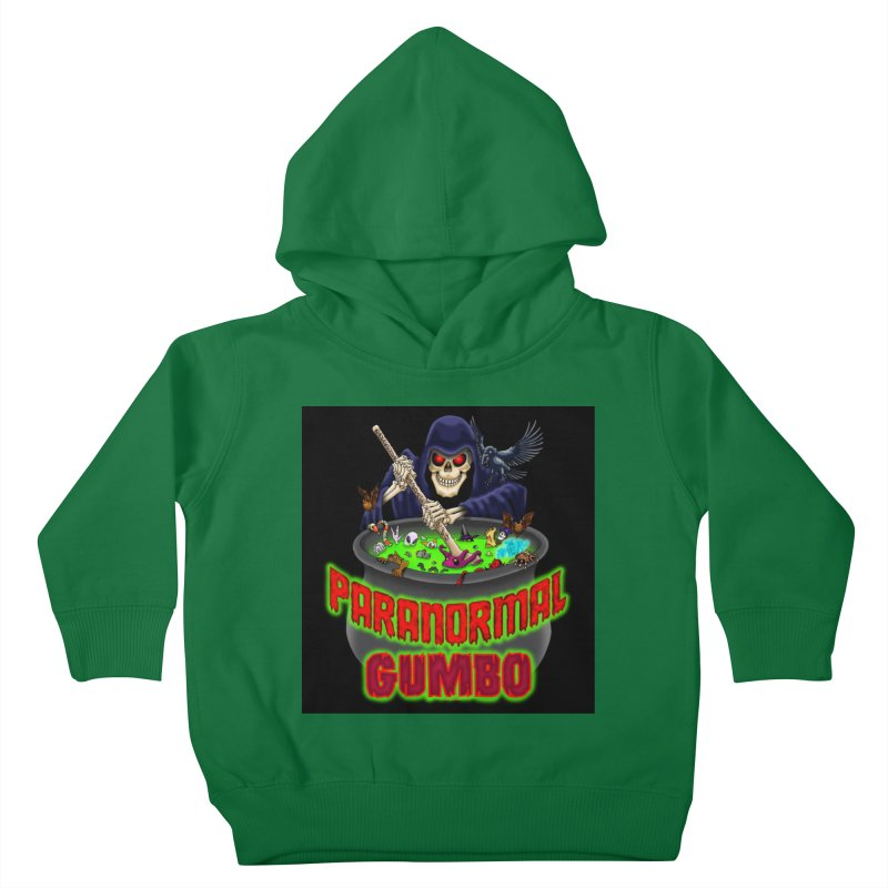 Paranormal Gumbo Grim Reaper Logo Products Kids Toddler Pullover Hoody by Paranormal Gumbo