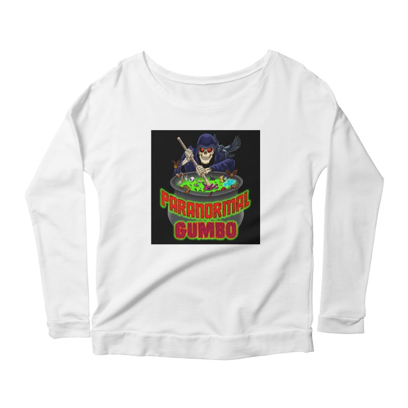 Paranormal Gumbo Grim Reaper Logo Products Women's Scoop Neck Longsleeve T-Shirt by Paranormal Gumbo