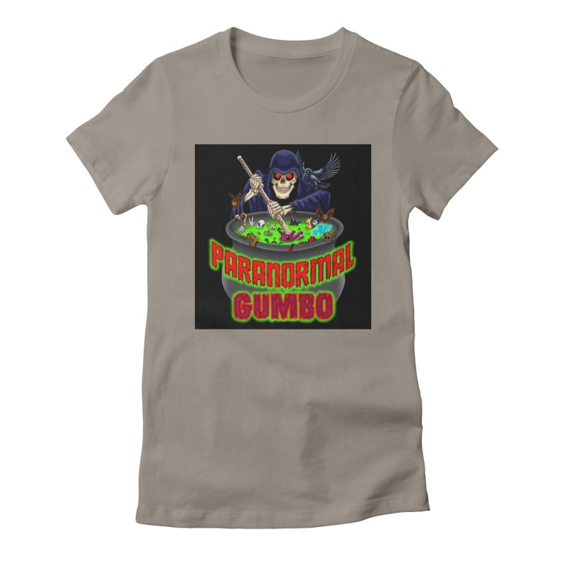Paranormal Gumbo Grim Reaper Logo Products Women's Fitted T-Shirt by Paranormal Gumbo