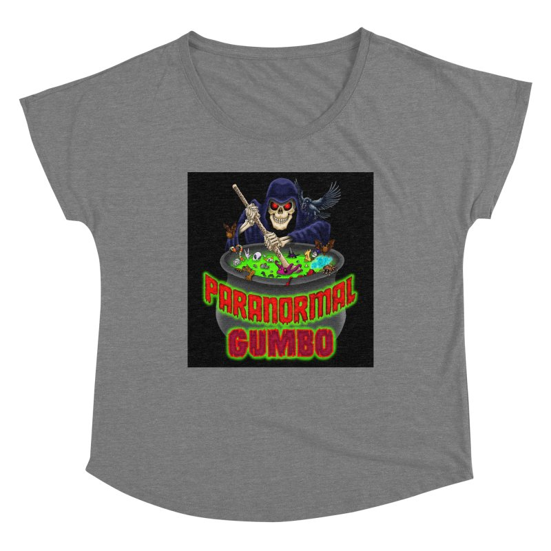 Paranormal Gumbo Grim Reaper Logo Products Women's Scoop Neck by Paranormal Gumbo
