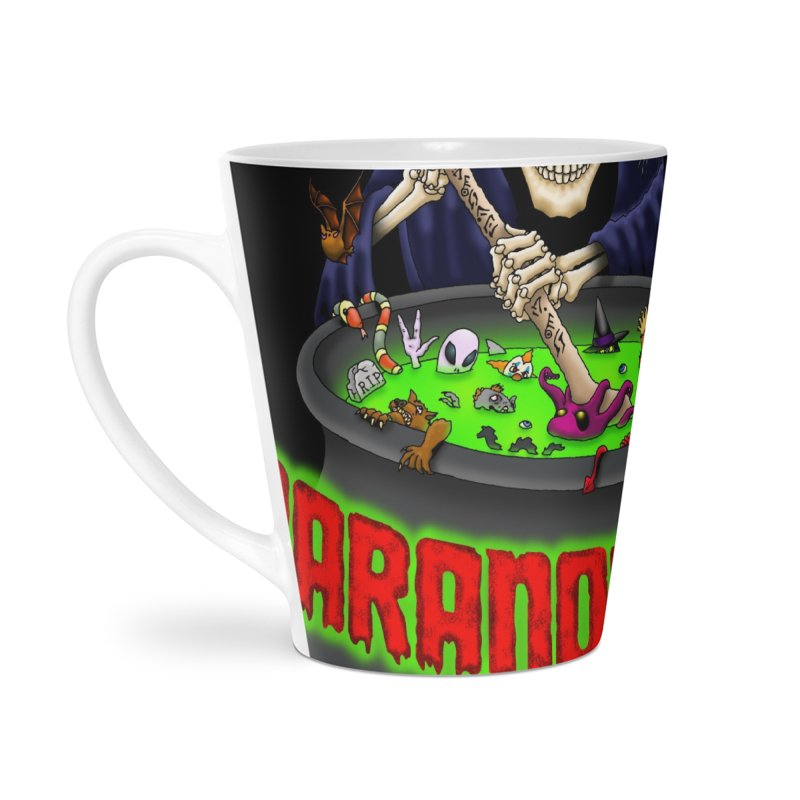 Paranormal Gumbo Grim Reaper Logo Products Accessories Latte Mug by Paranormal Gumbo