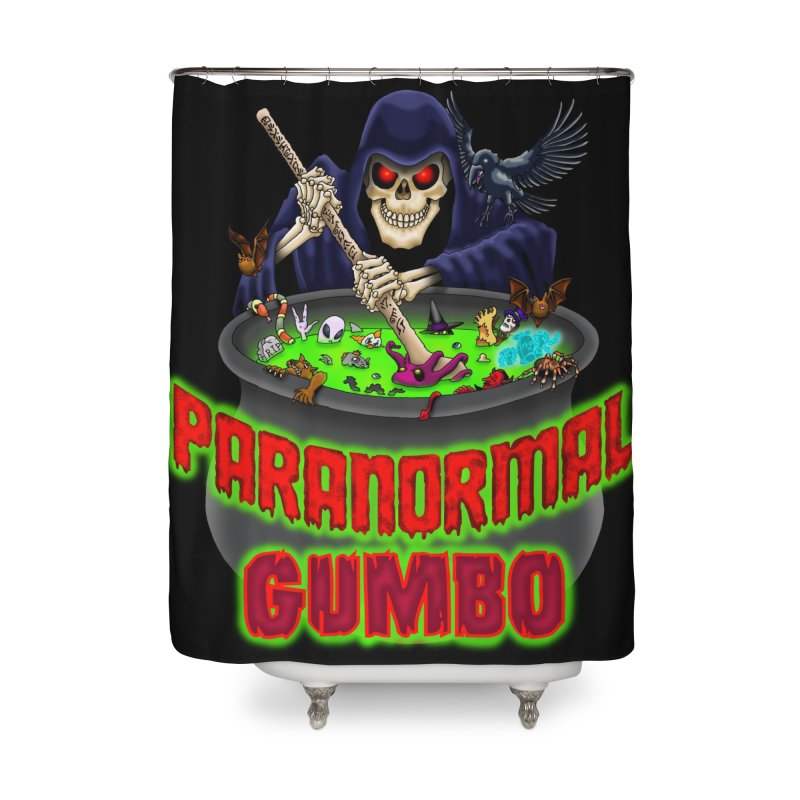 Paranormal Gumbo Grim Reaper Logo Products Home Shower Curtain by Paranormal Gumbo
