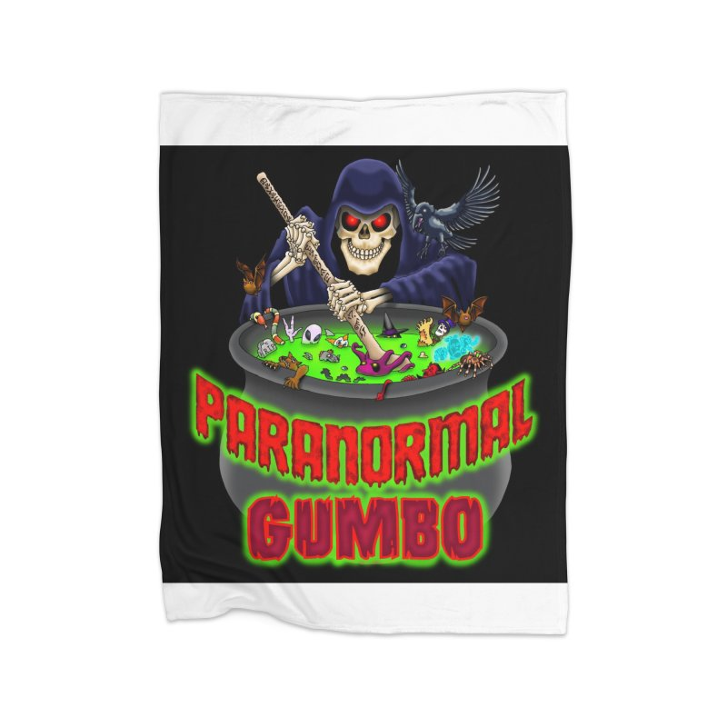 Paranormal Gumbo Grim Reaper Logo Products Home Blanket by Paranormal Gumbo