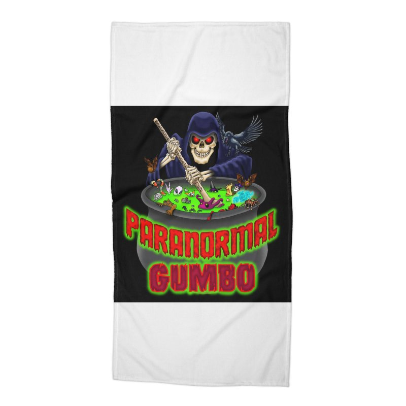 Paranormal Gumbo Grim Reaper Logo Products Accessories Beach Towel by Paranormal Gumbo