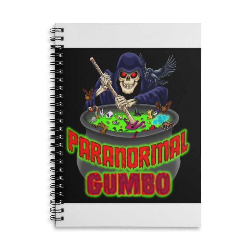 Paranormal Gumbo Grim Reaper Logo Products Accessories Lined Spiral Notebook by Paranormal Gumbo