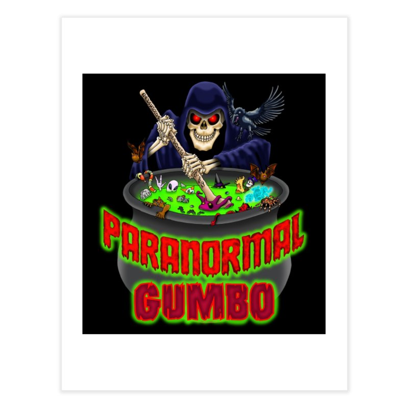 Paranormal Gumbo Grim Reaper Logo Products Home Fine Art Print by Paranormal Gumbo