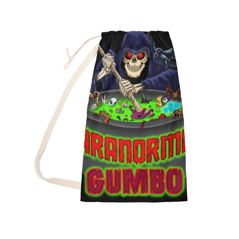 Paranormal Gumbo Grim Reaper Logo Products Accessories Laundry Bag Bag by Paranormal Gumbo