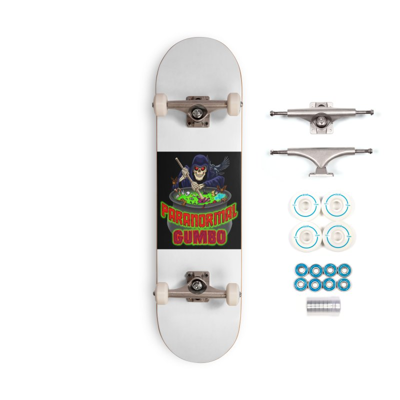 Paranormal Gumbo Grim Reaper Logo Products Accessories Complete - Basic Skateboard by Paranormal Gumbo