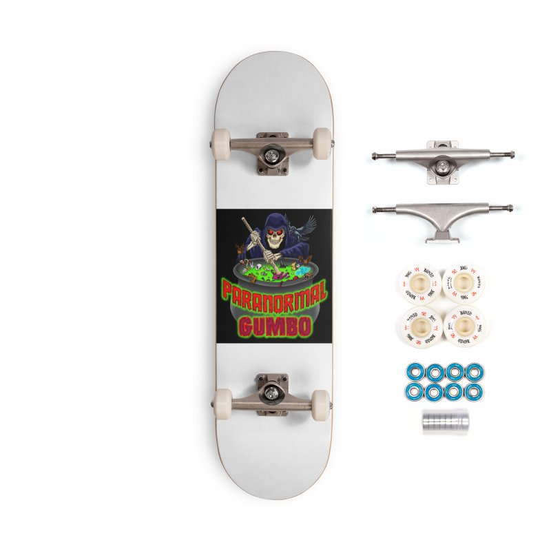 Paranormal Gumbo Grim Reaper Logo Products Accessories Complete - Premium Skateboard by Paranormal Gumbo