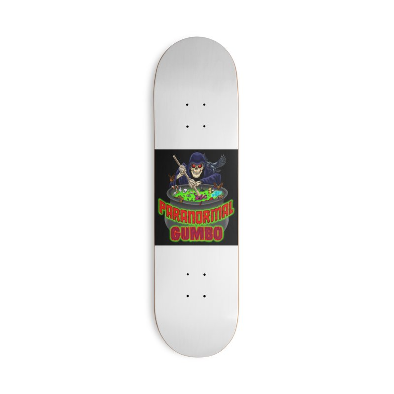 Paranormal Gumbo Grim Reaper Logo Products Accessories Deck Only Skateboard by Paranormal Gumbo
