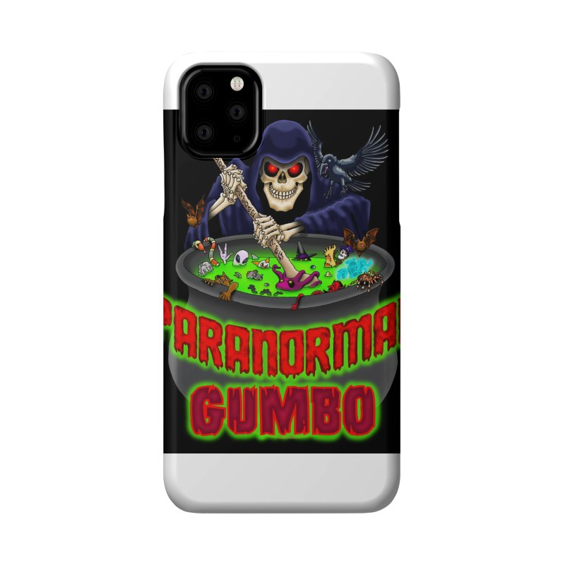 Paranormal Gumbo Grim Reaper Logo Products Accessories Phone Case by Paranormal Gumbo