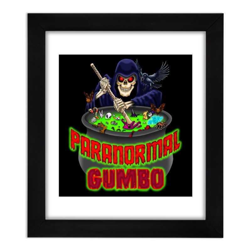 Paranormal Gumbo Grim Reaper Logo Products Home Framed Fine Art Print by Paranormal Gumbo