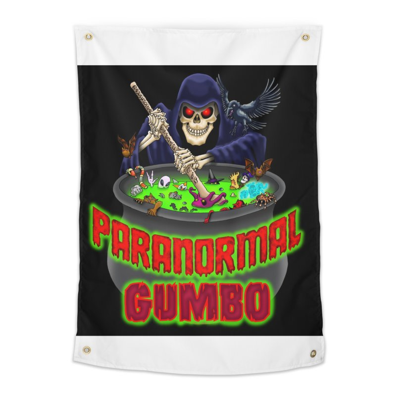Paranormal Gumbo Grim Reaper Logo Products Home Tapestry by Paranormal Gumbo