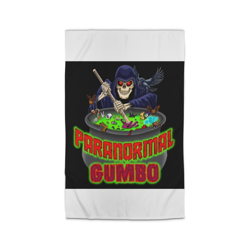 Paranormal Gumbo Grim Reaper Logo Products Home Rug by Paranormal Gumbo