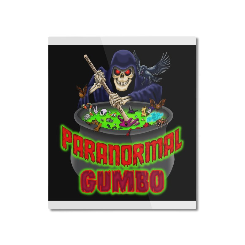 Paranormal Gumbo Grim Reaper Logo Products Home Mounted Aluminum Print by Paranormal Gumbo