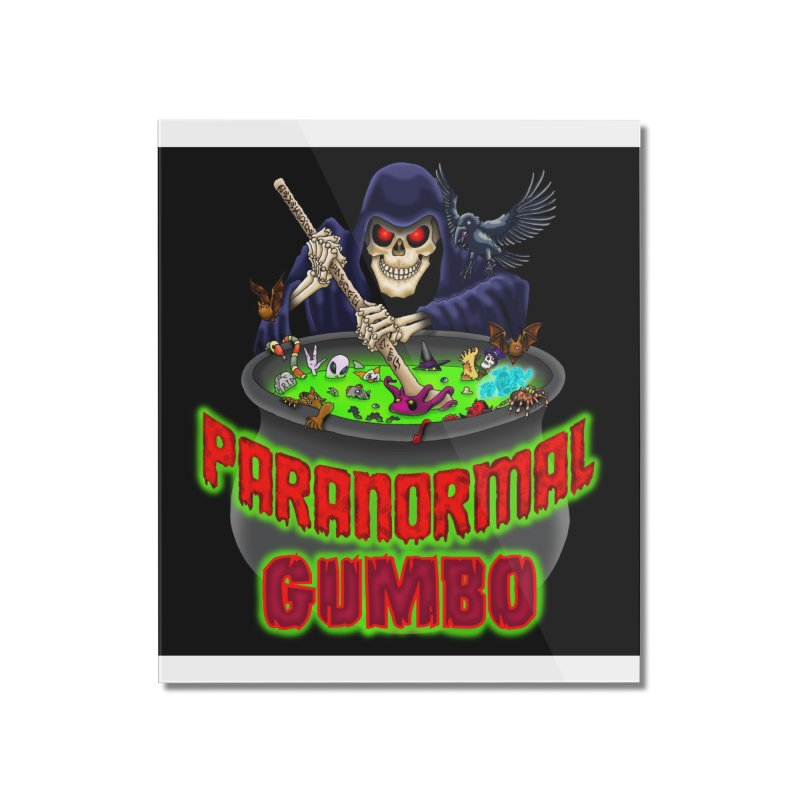 Paranormal Gumbo Grim Reaper Logo Products Home Mounted Acrylic Print by Paranormal Gumbo
