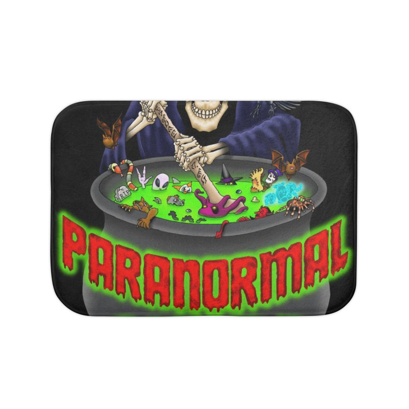 Paranormal Gumbo Grim Reaper Logo Products Home Bath Mat by Paranormal Gumbo