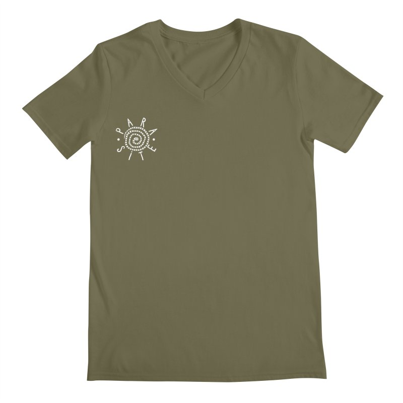 Para-Site small crest white Men's V-Neck by Parasite