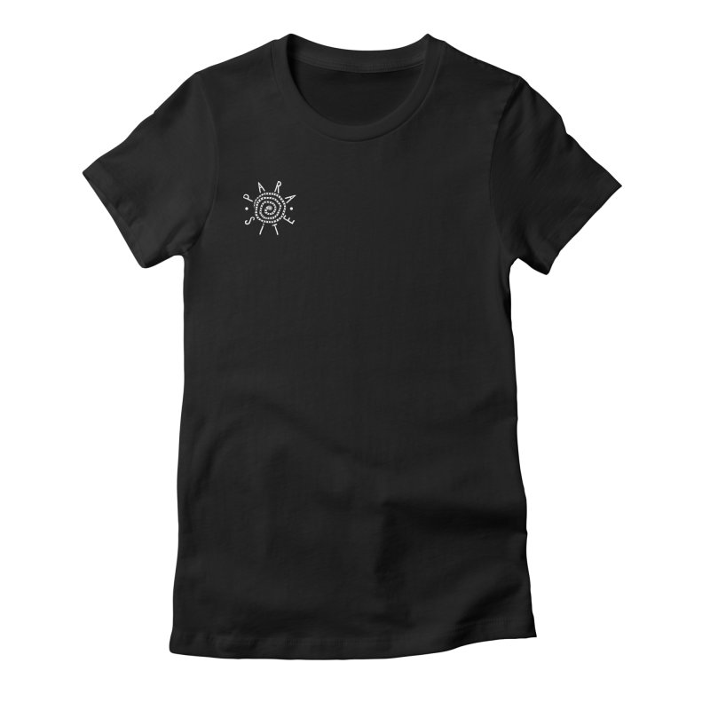 Para-Site small crest white Women's Fitted T-Shirt by Parasite