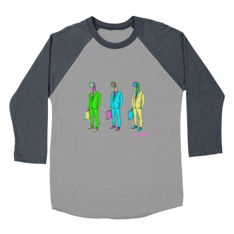 PARASITE CORP Men's Baseball Triblend T-Shirt by Parasite