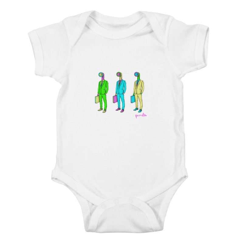 PARASITE CORP Kids Baby Bodysuit by Parasite