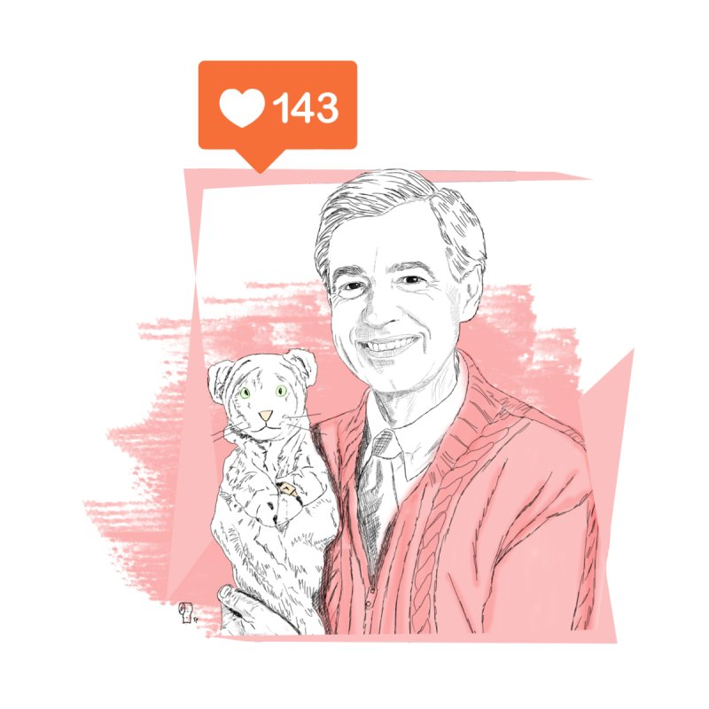 Mr  Rogers and Daniel the Striped Tiger | PardonMeDesign's Artist Shop