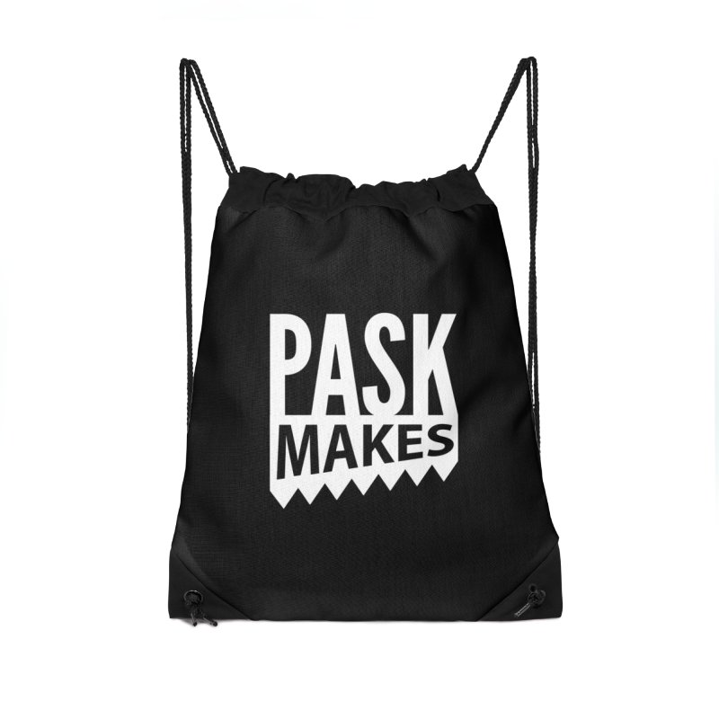 Pask Makes Accessories Drawstring Bag Bag by Pask Makes's Artist Shop