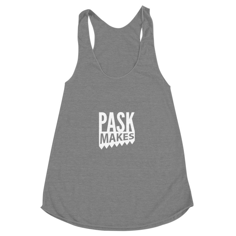 Pask Makes Women's Racerback Triblend Tank by PaskMakes's Artist Shop