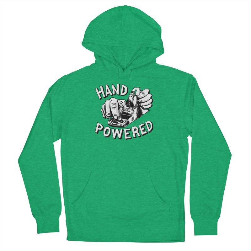 Hand Powered Men's French Terry Pullover Hoody by Pask Makes's Artist Shop