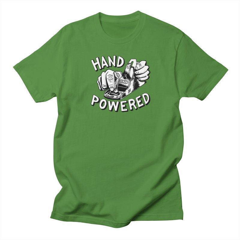 Hand Powered Women's Regular Unisex T-Shirt by PaskMakes's Artist Shop