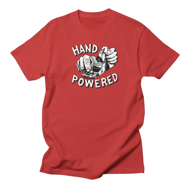 Hand Powered Men's Regular T-Shirt by Pask Makes's Artist Shop