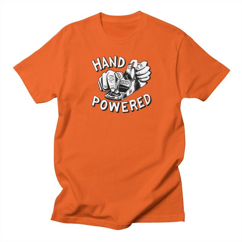 Hand Powered Men's Regular T-Shirt by Pask Makes's Artist Shop