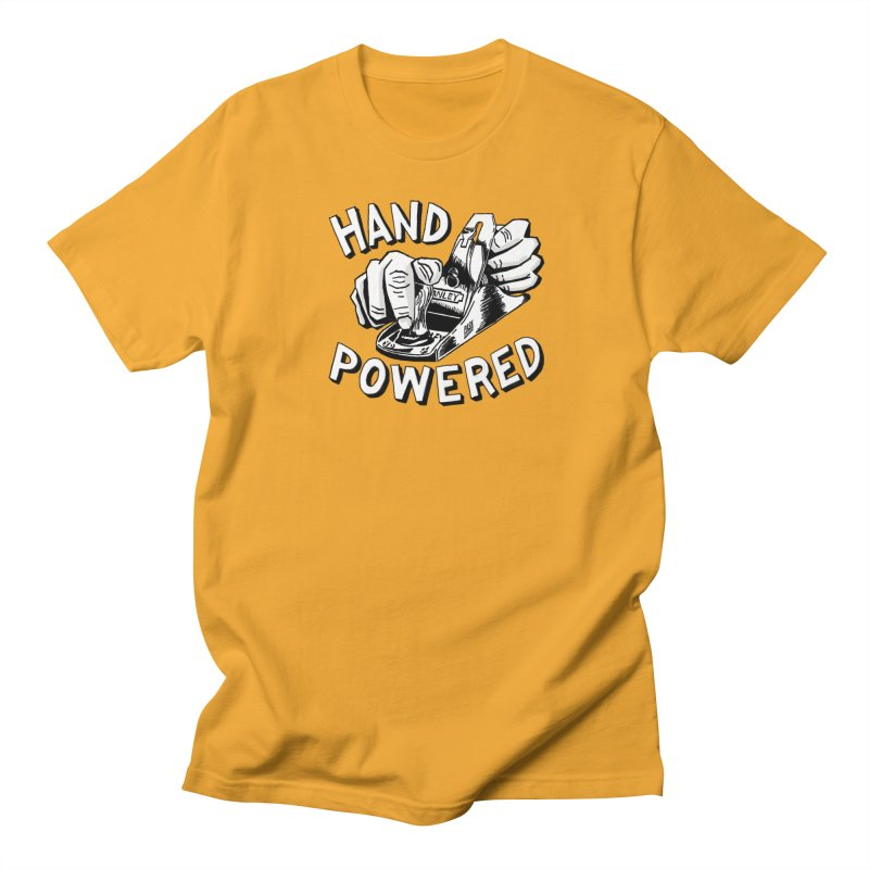 Hand Powered Women's Regular Unisex T-Shirt by Pask Makes's Artist Shop