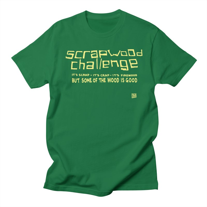 Scrapwood Challenge Men's Regular T-Shirt by Pask Makes's Artist Shop