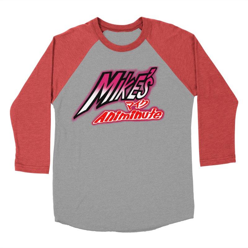 Mike's Animinute (JBA) Women's Baseball Triblend Longsleeve T-Shirt by Official Pass The Controller Store