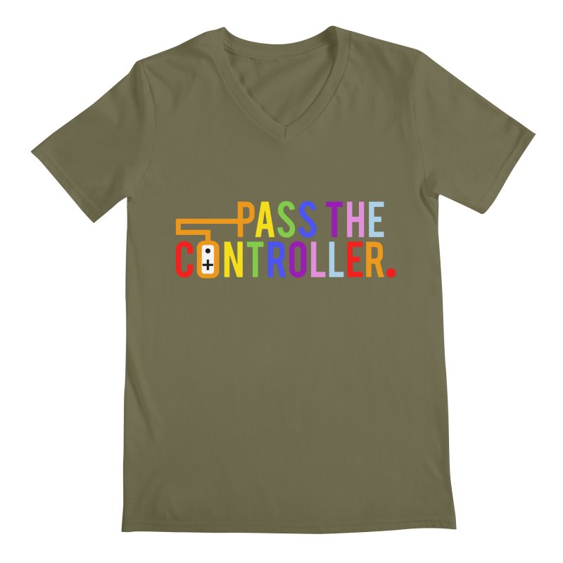 PTC Pride Men's V-Neck by Official Pass The Controller Store