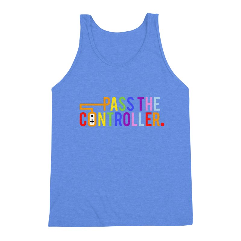 PTC Pride Men's Triblend Tank by Official Pass The Controller Store