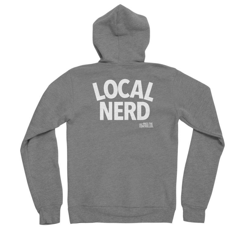 Local Nerd Men's Sponge Fleece Zip-Up Hoody by Official Pass The Controller Store