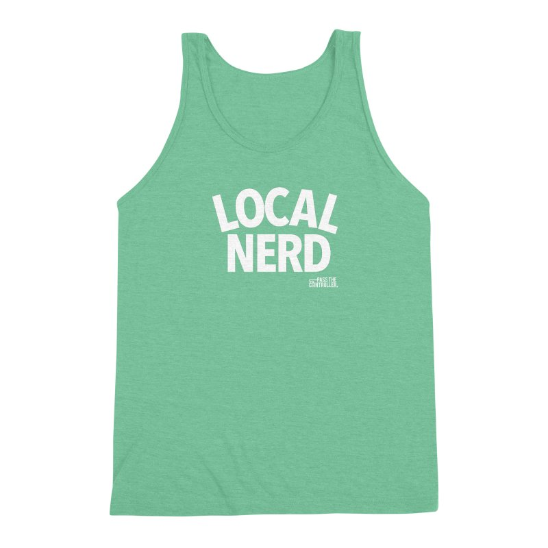 Local Nerd Men's Triblend Tank by Official Pass The Controller Store