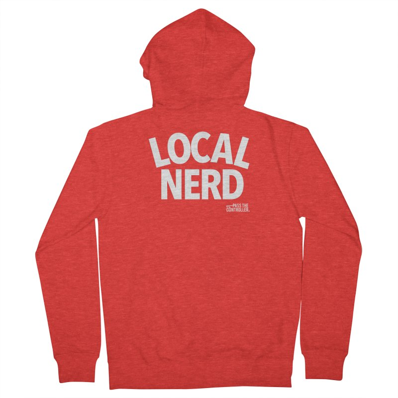 Local Nerd Men's Zip-Up Hoody by Official Pass The Controller Store