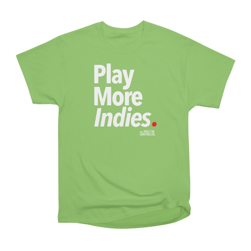 Play More Indies (Series 1) Men's Heavyweight T-Shirt by Official Pass The Controller Store