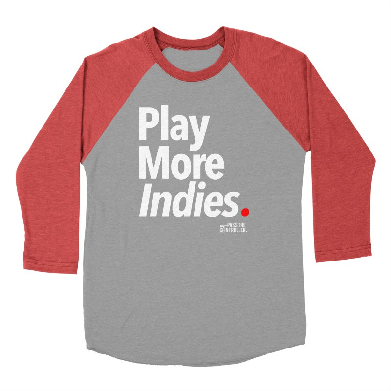 Play More Indies (Series 1) Men's Baseball Triblend Longsleeve T-Shirt by Official Pass The Controller Store