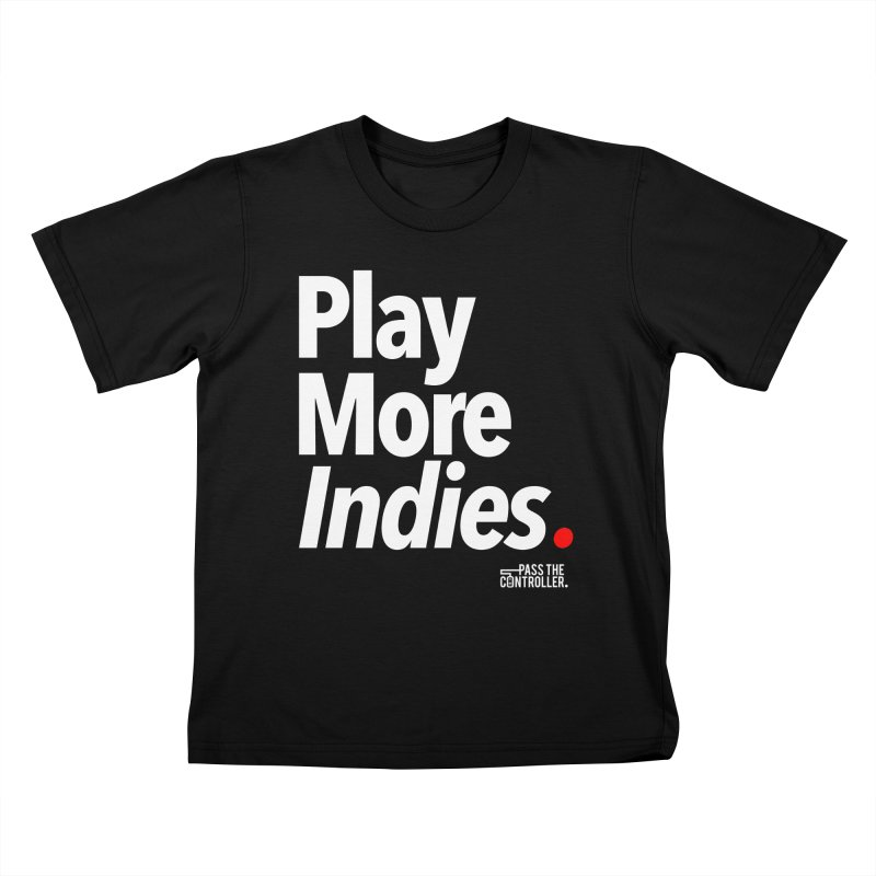 Play More Indies (Series 1) Kids T-Shirt by Official Pass The Controller Store